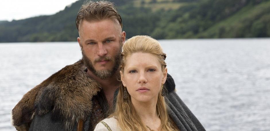 Ragnar og Lagertha Photo credit: Jonathan Hession7Historychannel.com