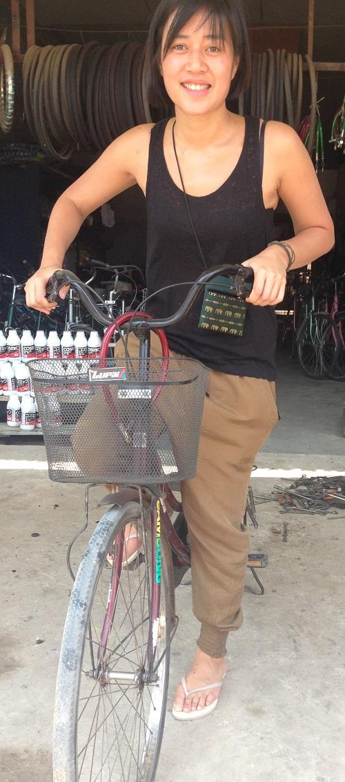 Vår nye skribent Linda har gått til anskaffelse av sykkel, som blir hennes trnasport til og fra jobb.
