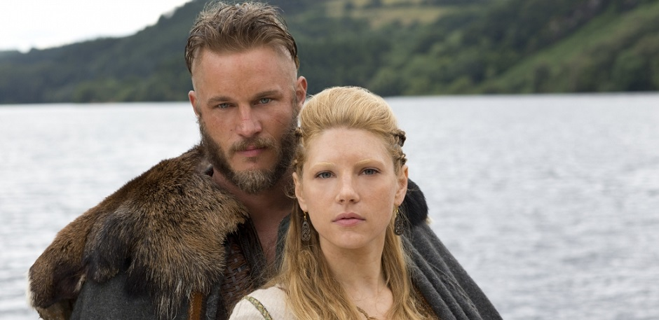 Ragnar og Lagertha Photo credit: Jonathan Hession7Historychannel.com